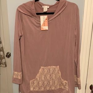 Honey and lace Carmel hoodie
